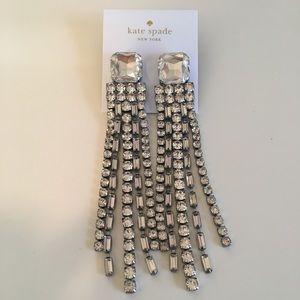 Kate Spade Crystal Fringe Chandelier Earrings